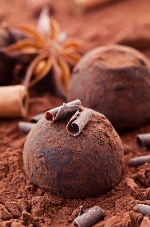 #recette des truffes au chocolat et aux épices de Noël !