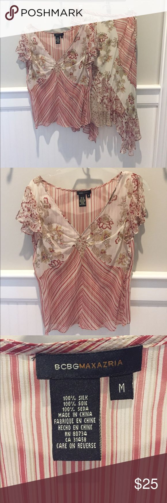 BCBG Maxazria skirt set BCBG Maxazria Skirt zest 100% Silk top size M side closure 100% Silk skirt inside lining is polyester size 6 BCBGMaxAzria Skirts Skirt Sets