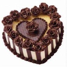 ПР 069 Торт шоколадный в форме сердца
