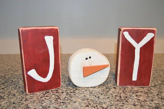 JOY Blocks/Christmas Decor
