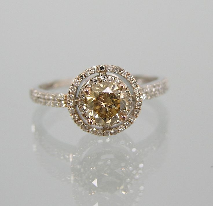 605. A Ladies' Champagne Diamond Ring - May 2009 Auction - ASPIRE AUCTIONS