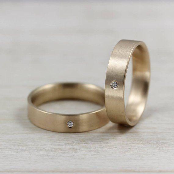 Mens Engagement Ring Set Simple Gold Ring Mens Wedding Etsy Engagement Rings For Men Rings Mens Wedding Bands Rings For Men