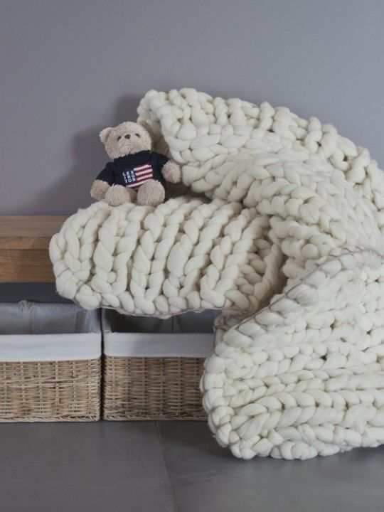 Xxl Knitting Yarn : Merino wool blanket handmade by knitting noodles xxl