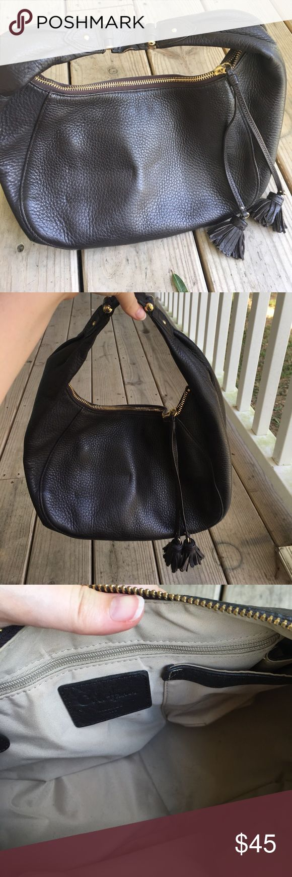 Cole Haan brown bag - Holiday Sale! Brown leather Cole Haan cross pint style hobo with tassel accents. Cole Haan Bags Hobos