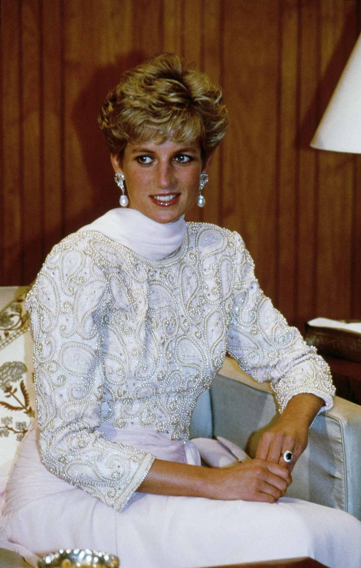 Exquisite beading on a stunning Princess Diana!