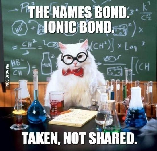 If James Bond was a chemistry major