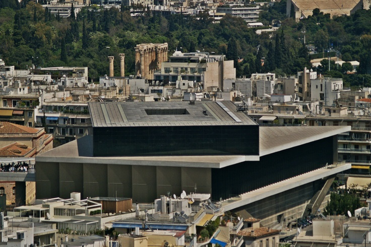 The New Museum of the Acropolis as seen from Philopappos Hill. (Walking Athens - Route 04 / Plaka)