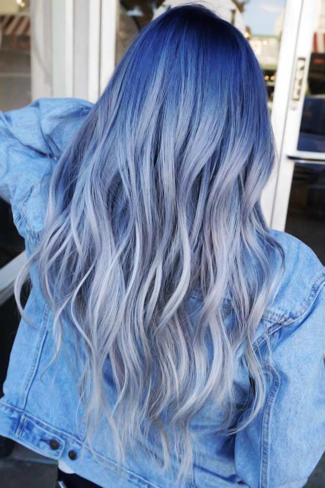 25 Vivid Ideas For Black Ombre Hair The Right Hairstyles For You Black Hair Ombre Grey Ombre Hair Blue Ombre Hair