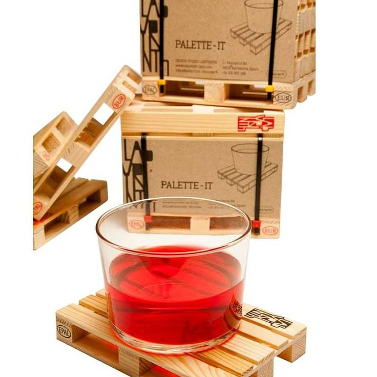 1 Set Home Miniature Pallet Wood Beverage Coasters Drink Wine Glasses Beer Bottle Whiskey Glass Cup Mat Hot DrinksTable Mat