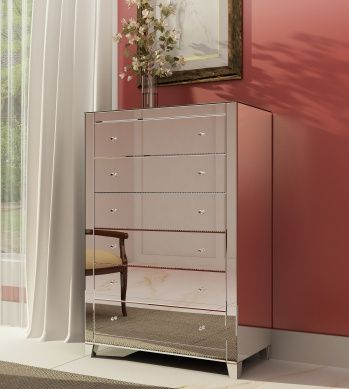 6-Drawer Mirrored Chest