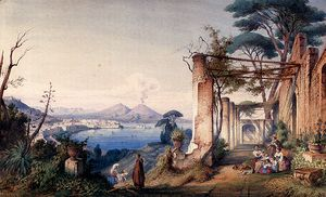 Il Gulfo di Napoli con il Vesuvio sullo sfondo  Gabriel Carelli