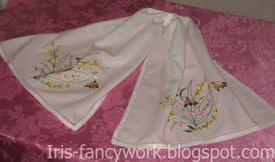 """My Fancywork Blog: Декоративные полотенца-рушники """"Полевые цветы"""". Де..."""