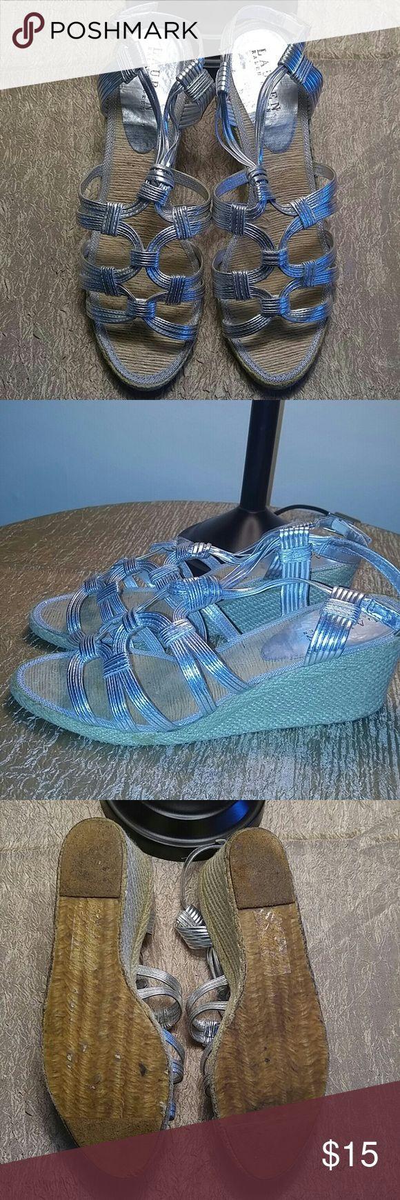 Ralph Lauren Metallic Silver Espadrille Ralph Lauren Metallic Silver Espadrilles. Size 9.5 Ralph Lauren Shoes Espadrilles