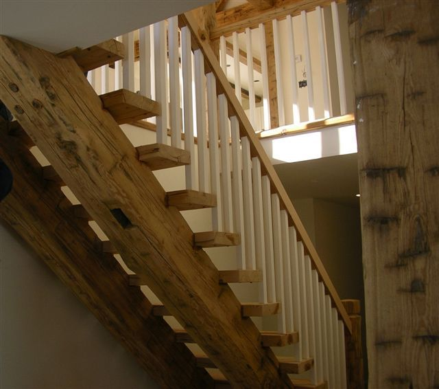 Barn beam stairs