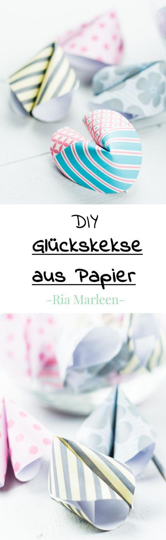 DIY Glückskekse aus Papier basteln – schönes Geschenk oder Party DIY