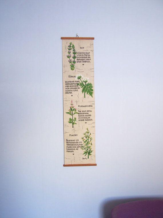 Bowa Dibujo impreso en tela para colgar // Tapete por tiendanordica