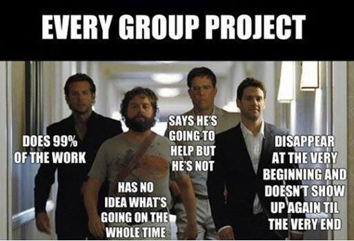 The make-up of every group project ever.