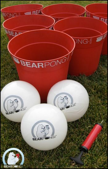 Bear Pong Game ... Life sized beer pong... Freakin awesome!
