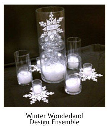 snowflake centerpiece ideas | Black Blue Silver White Centerpiece Centerpieces Winter Wedding ...