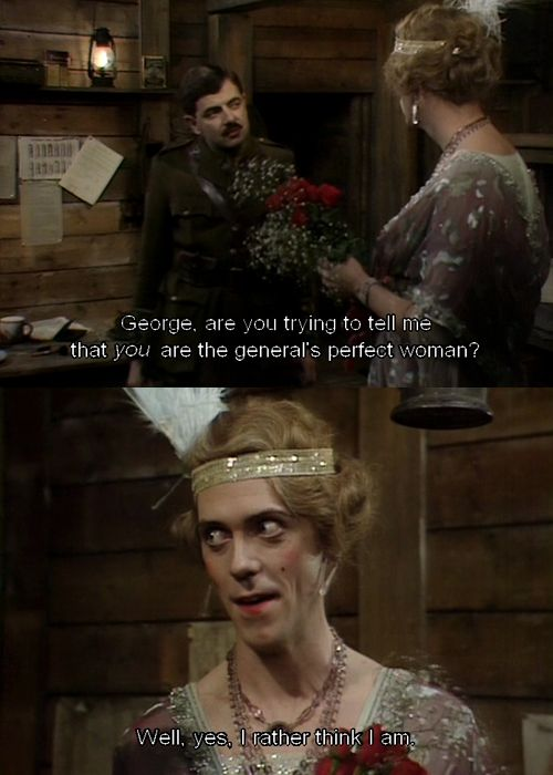 the last episode of black adder goes forth essay By bluey01 blackadder goes forth is brilliant, simply the best out of the four, the last episode was great and a tearjerker.