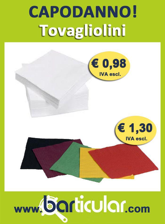 Tovagliolini formato 12x12 cm - ideali per Bar Organizer. http://www.barticular.com/store/speciale-capodanno/tovagliolini-colorati