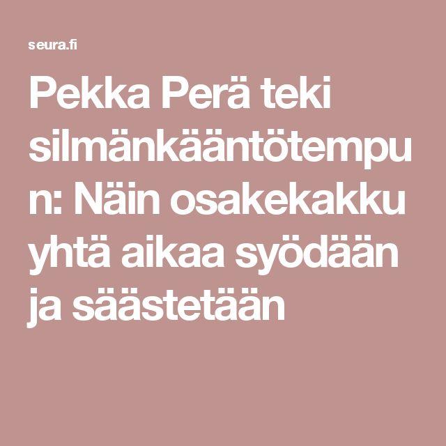 Pekka Perä teki silmänkääntötempun: Näin osakekakku yhtä aikaa syödään ja säästetään