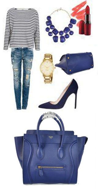 Celine Luggage Handbag 30CM in Navy \u0026quot;Like the outfit but not the ...