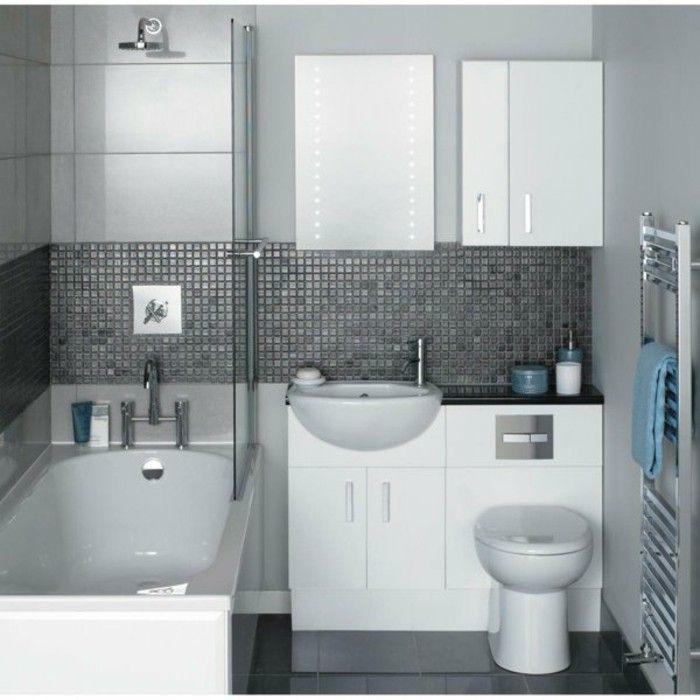 salle de bain couleur gris, meuble gain de place pour une salle de bain 4m2