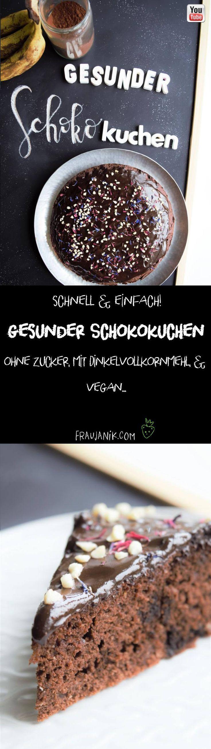 #veganer Schokoladenkuchen # Dinkelvollkornmehl # Geburtstagskuchen #gesunder Kuchen …   – dessert-amazing