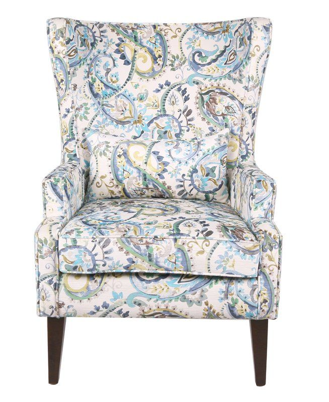 Fantastic Darby Home Co Godfrey Paisley Wingback Chair Wayfair Bralicious Painted Fabric Chair Ideas Braliciousco
