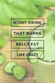 Night Drink That Burns Belly Fat Like Crazy