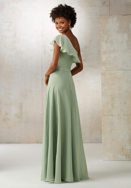 4e2edd4d2aaf Morilee Bridesmaids 21503 One Shoulder Print + Chiffon Bridesmaids Dress - Off  White Bride