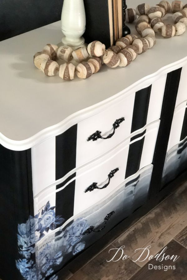 Painted Furniture Ideas Dressers, How To Paint Stripes On Furniture