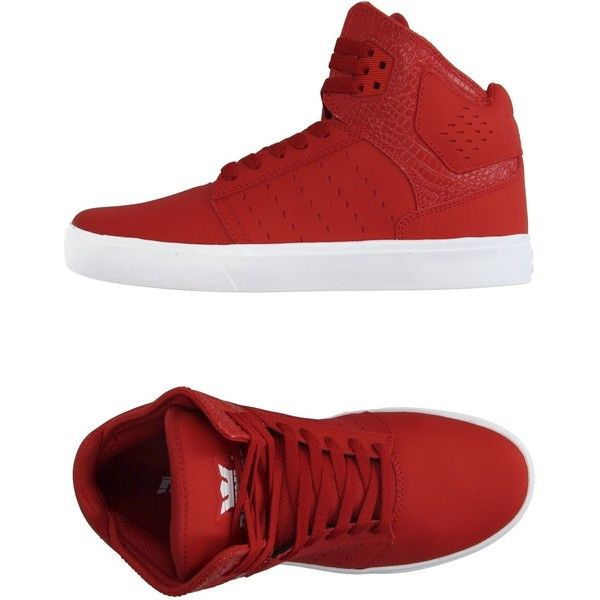 Supra Sneakers (1.080.335 IDR) ❤ liked on Polyvore featuring men's fashion, men's shoes, men's sneakers, red, mens crocodile shoes, mens red sneakers, crocs mens shoes, mens leather sneakers and mens red shoes