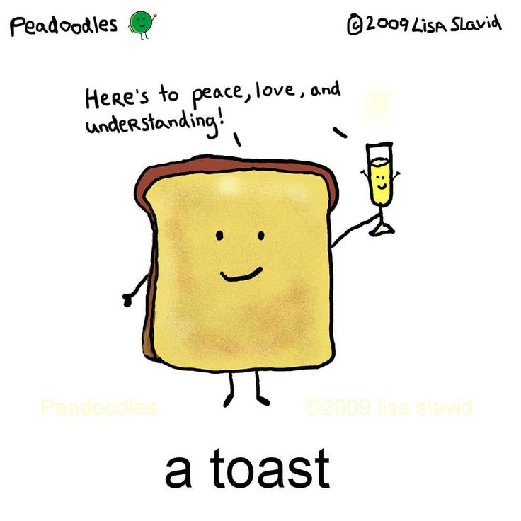 A toast for you all! Here's to peace, love, and understanding #peadoodles #happynewyear #peace #love #understanding #toast #peaceloveunderstanding #foodpun #foodpuns #kindness #celebration #ilovetoast #toasting # #❤️ #✌️ # #