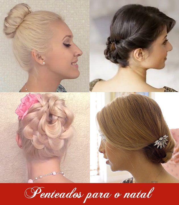 penteados para o natal