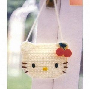 Hello kitty crochet bag....thinking of making  it for my Amanda!