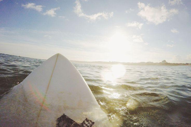 Surfer View Of Ocean