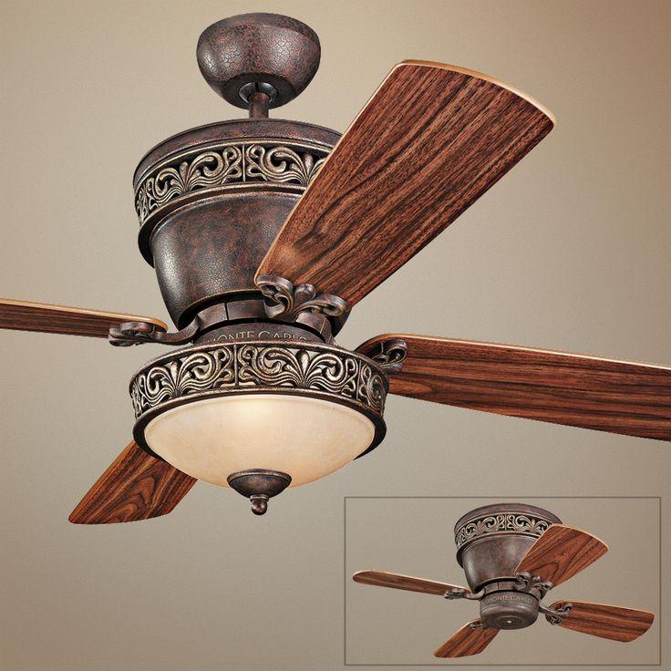 """42"""" Monte Carlo Villager Walnut Ceiling Fan With Light Kit"""