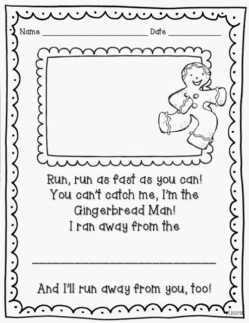 A free printable for your Gingerbread Man unit!
