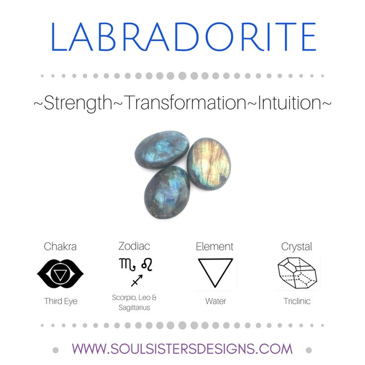 Metaphysical Healing Properties of Labradorite, including associated Chakra, Zodiac and Element, along with Crystal System/Lattice to assist you in setting up a Crystal Grid. Go to https:/stoulsistersdesigns.com to learn more!