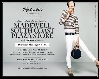 J.Crew Aficionada: Prepare Your Closets! Madewell South Coast Plaza Store Opens Soon