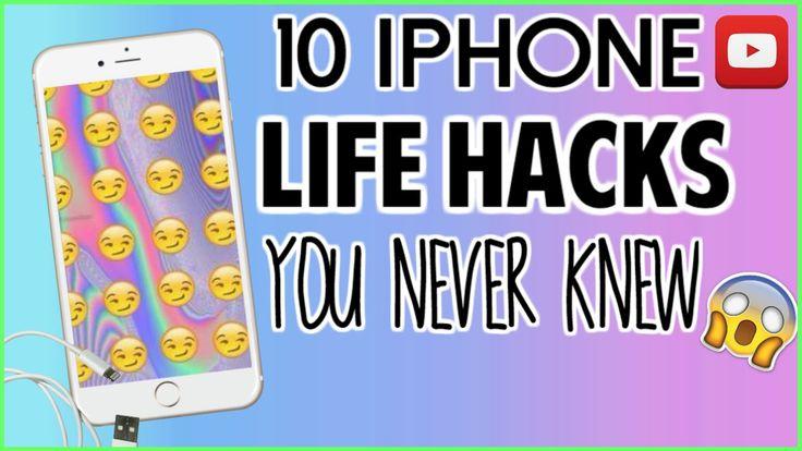 10 iPhone Life Hacks You Never Knew!!   Tatyana Lopez - YouTube