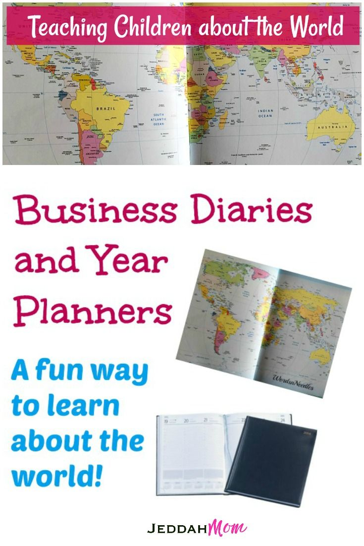 Teaching children about the world through diaries, year planners and travelogues. Learning about geography, culture, time difference, etc through business diaries. Growing world citizens.