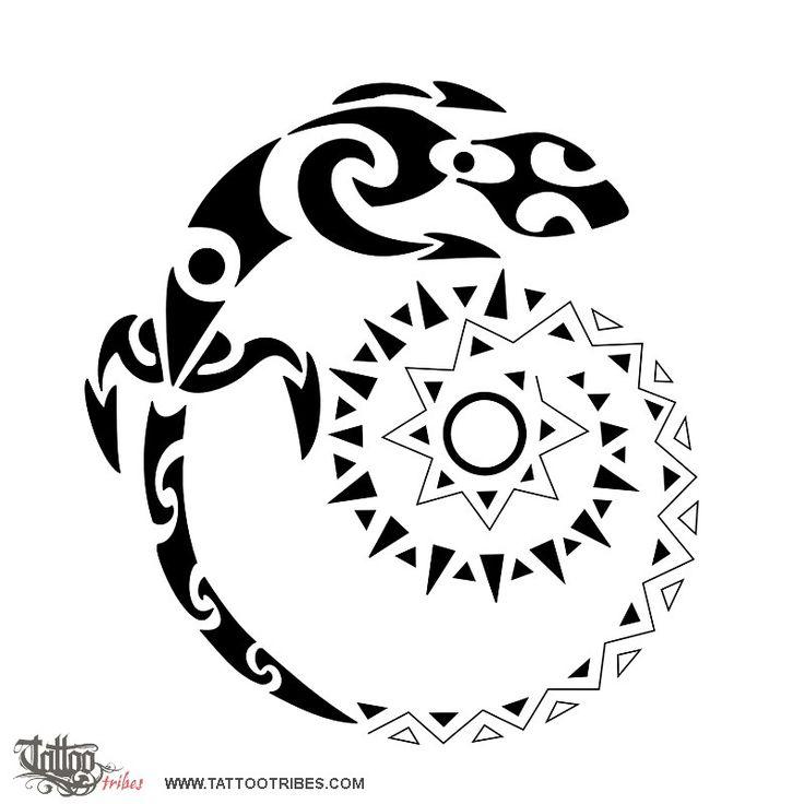 DUDE! Lizard, spiral AND the sun!