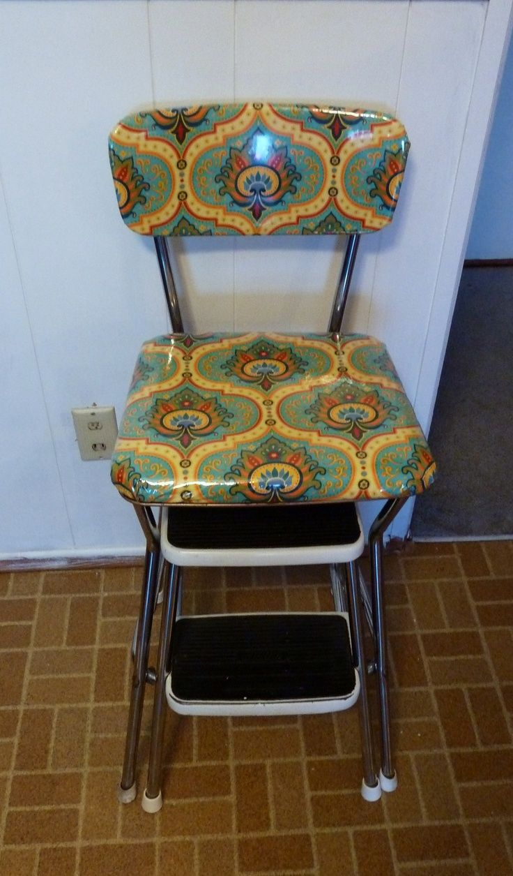 Cosco step stool chair - Reupholster Cosco Stool Google Search
