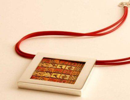 Maggie Sierralta - KUM ethnic necklace, Ceramic, silver
