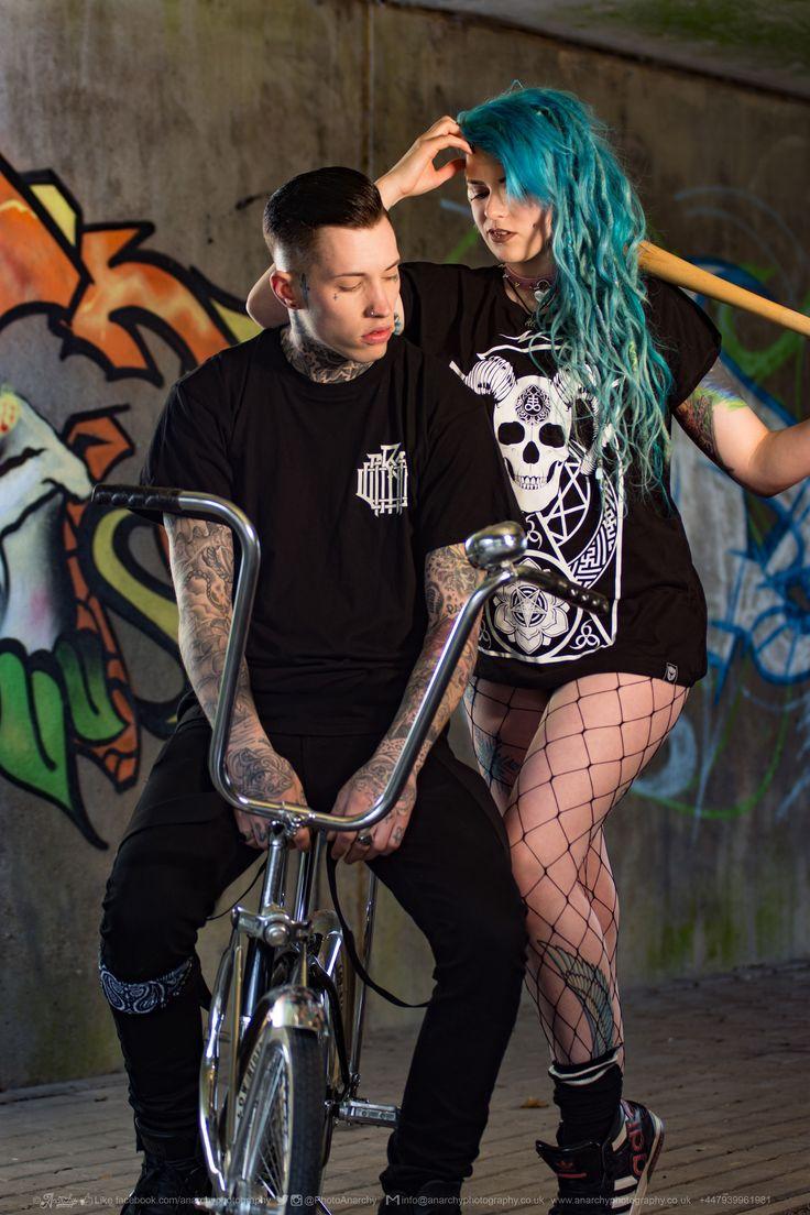 """Monogram"" Tee, ""Conspiring"" Women's Tee available at www.crmc-clothing.co.uk | WE SHIP WORLDWIDE  Models - @ryan_davieshall & @cybermaikitten Photography by @photoanarchy  #apparel #streetwear #streetfashion #alternativeguy #fashionista #fashionstatement #fashionofinstagram #alternativeteen #alternativegirl #alternativeboy #fashiongram #instafashion #fashionaddict #menwithtattoos #tattoooedmen #guyswithtattoos #tattoos #picoftheday #dailyfashion"