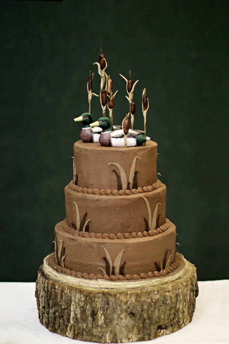 Best 25 hunting grooms cake ideas on pinterest duck hunting jacks a huge duck hunter and his grooms cake turned out perfect junglespirit Images