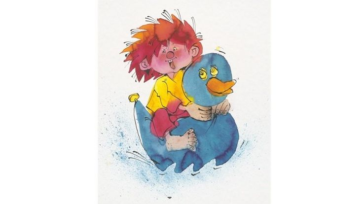 Elisabeth Ellis Kaut im Doodle: Pumuckl-Illustration der Zeichnerin Barbara von Johnson. Illustration: Barbara von Johnson
